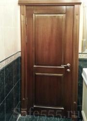 Дверь из массива бука с патиной DW-6
