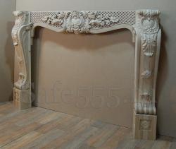 Каминный портал из дуба, ручная резьба.