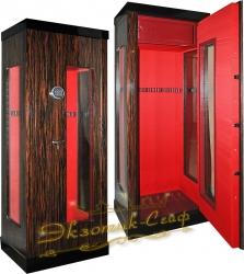 Оружейный сейф-витрина D2012 EL Red
